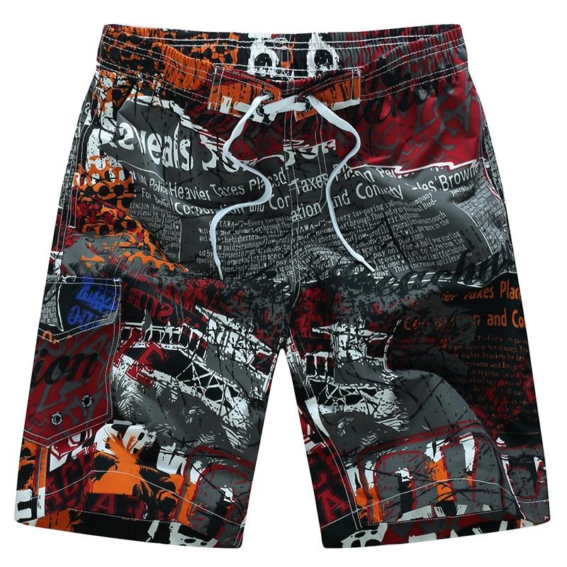 2017 Hot Summer Beach Shorts Men Board Shorts Quick Dry Boardshorts Swimwear Hawaiian Shorts Plus Size 3XL 4XL 5XL 6XL