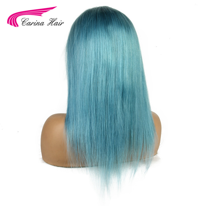 Carina Peruvian Light Blue 13 3 Lace Front Wig Navy Pastel Blue For Women With Baby Hair Preplucked Long Remy Hair Aliexpress