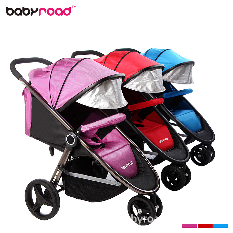 Newborn Baby Stroller Can Sit and Lie trolley Light Folding Tricycle Baby travel Cart цена