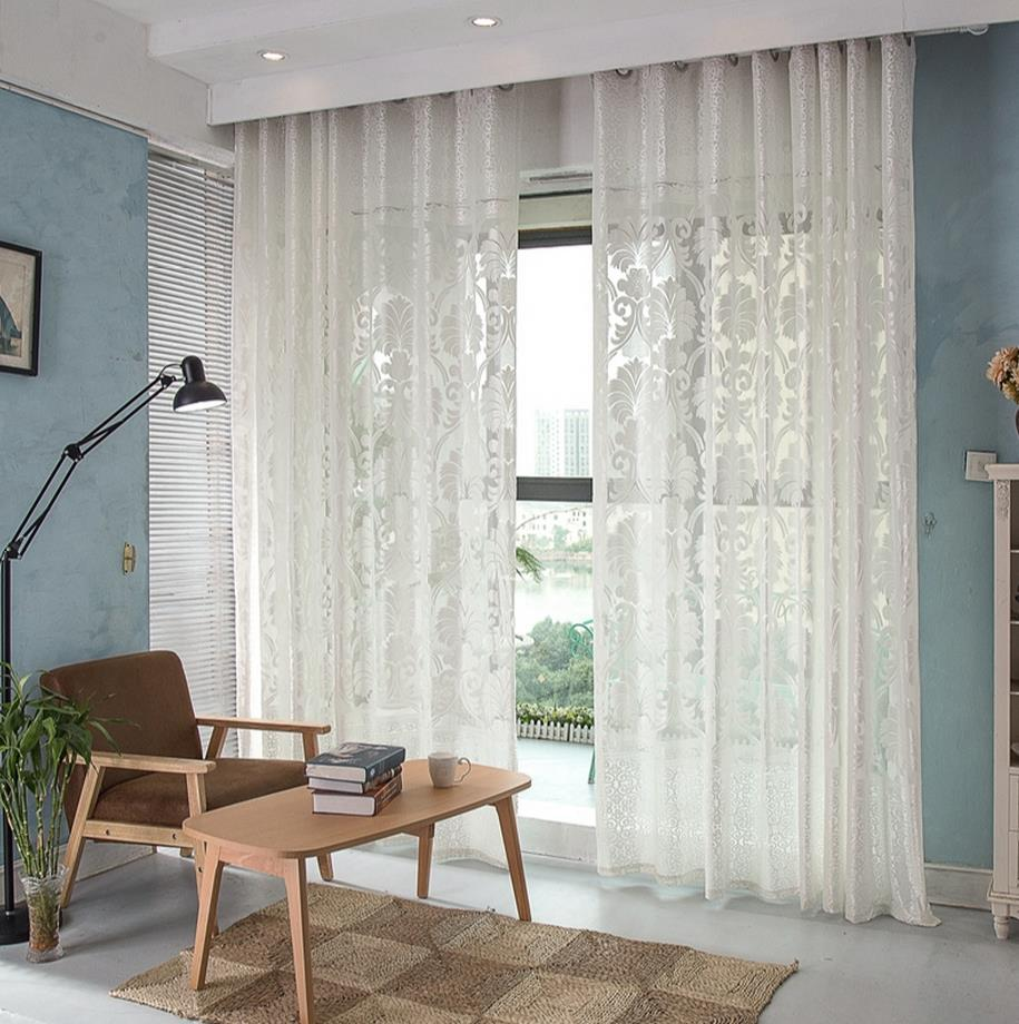 Cafe curtains for bedroom - Physical Low Finished Product Light Shading Screens Cafe Modern Wire Netting Bedroom Balcony Window Curtain Cloth