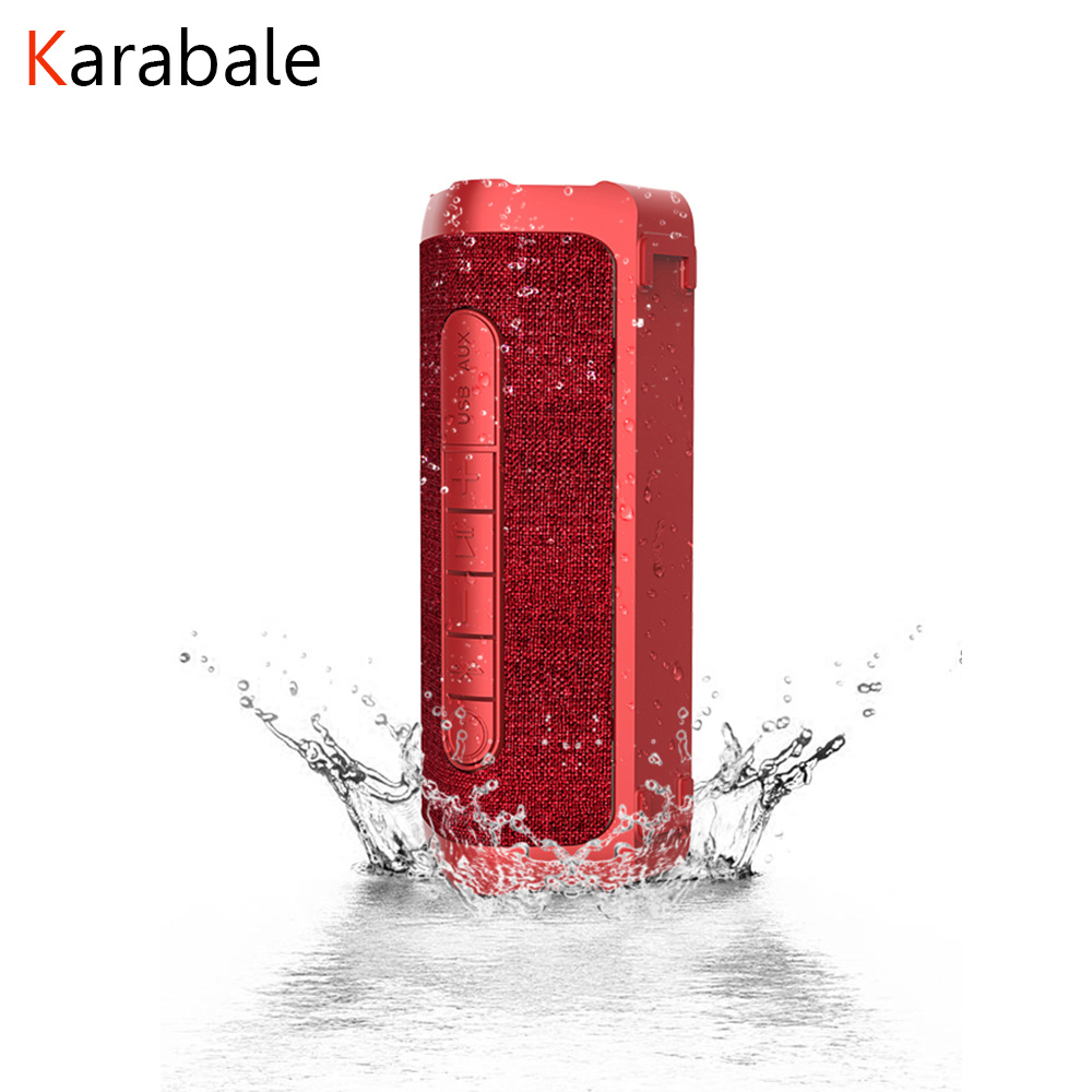 Stereo Speakers HIFI Play-Time Waterproof Super-Bass Outdoor Portable Wireless MIC 12W