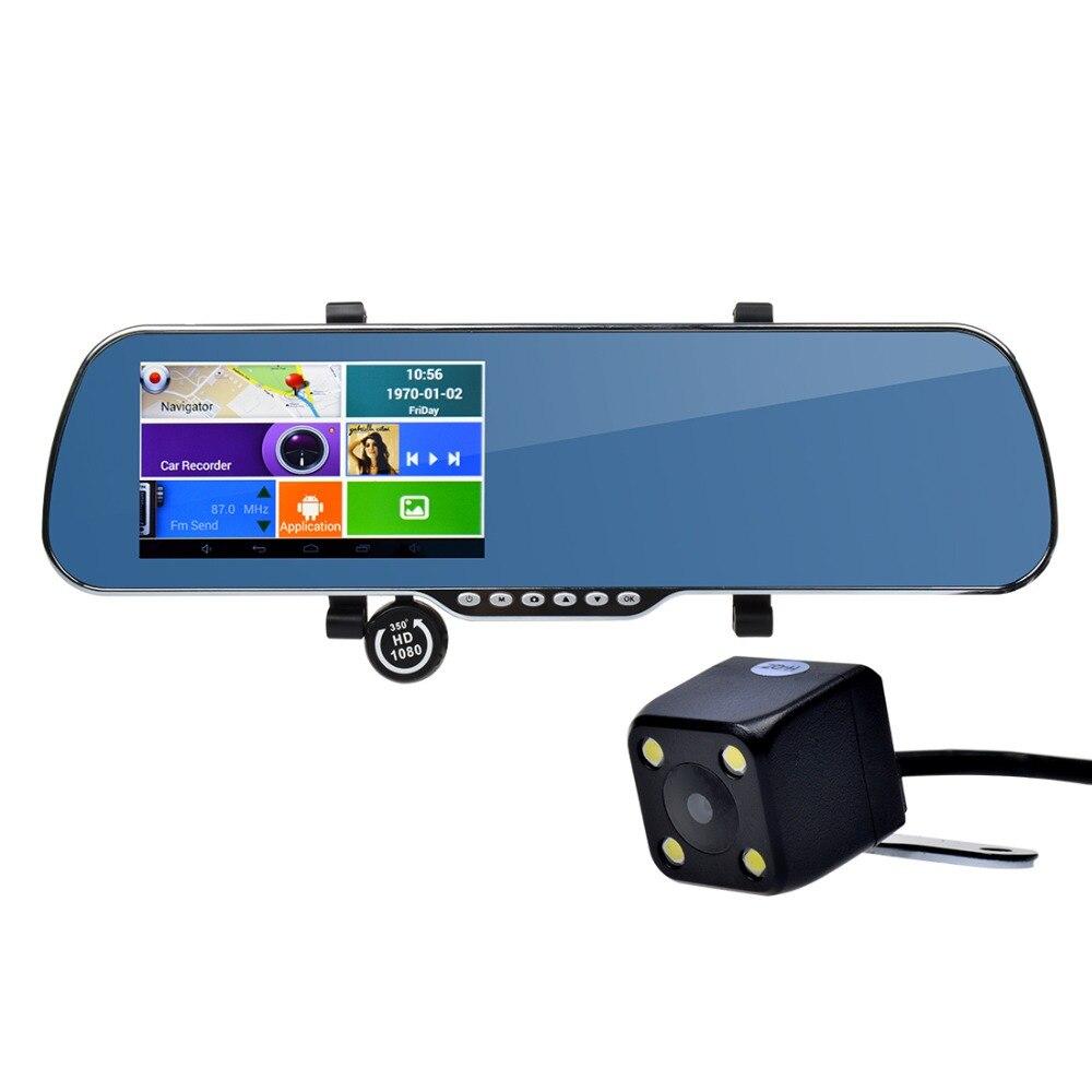 5 ''Автомобильный видеорегистратор зеркало gps dvr Камера FHD 1080 P Android 4,4 8 г Встроенная память Двойной объектив видео Регистраторы WI-FI + WDR Функция ...