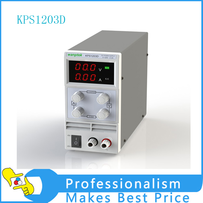 KPS1203D Adjustable High precision double LED display switch DC Power Supply protection function 120V3A 110V/220V 0.1V/0.01A EU switch power kps3010d adjustable high precision double led display switch dc power supply protection function 30v10a 110v 230v