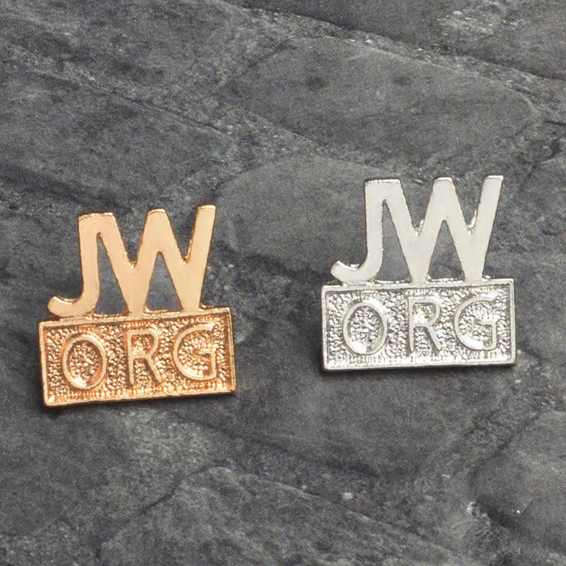 Deus JW. ORG Pinos das Testemunhas de Jeová alfinetes de Lapela e Emblemas Broche denim para mulheres dos homens de fé Cristã Esmalte Pinos Atacado