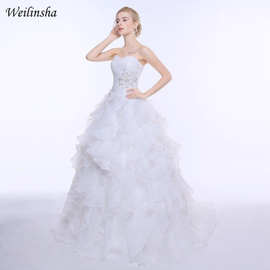 Lace Cap Sleeve 2017 Plus Storlek Bröllopsklänning Mode V-ring - Bröllopsklänningar - Foto 4