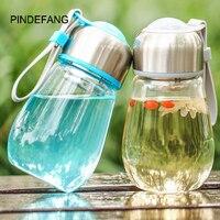 PINDEFANG 400 ml Glas Water met Mouw Leakless Sport Gadget Drinkware Draagbare Flusk Leuke Vrouwelijke outdoor Fruit Tumbler