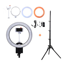 NanGuang CN-R640 19″Photo/Video/Studio/phone 640 LED 5600K Camera Macro Ring Light Lamp for Makeup Photography With tripod Stand