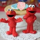 10pcs Sesame Street Elmo PVC Action Figure Toy Subminature Collectible Model Toy