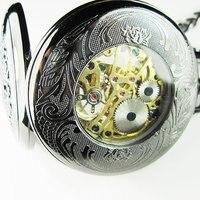 2010 Unique Luminous Vintage Noctilucence Black Pocket Watch Freeship Hot