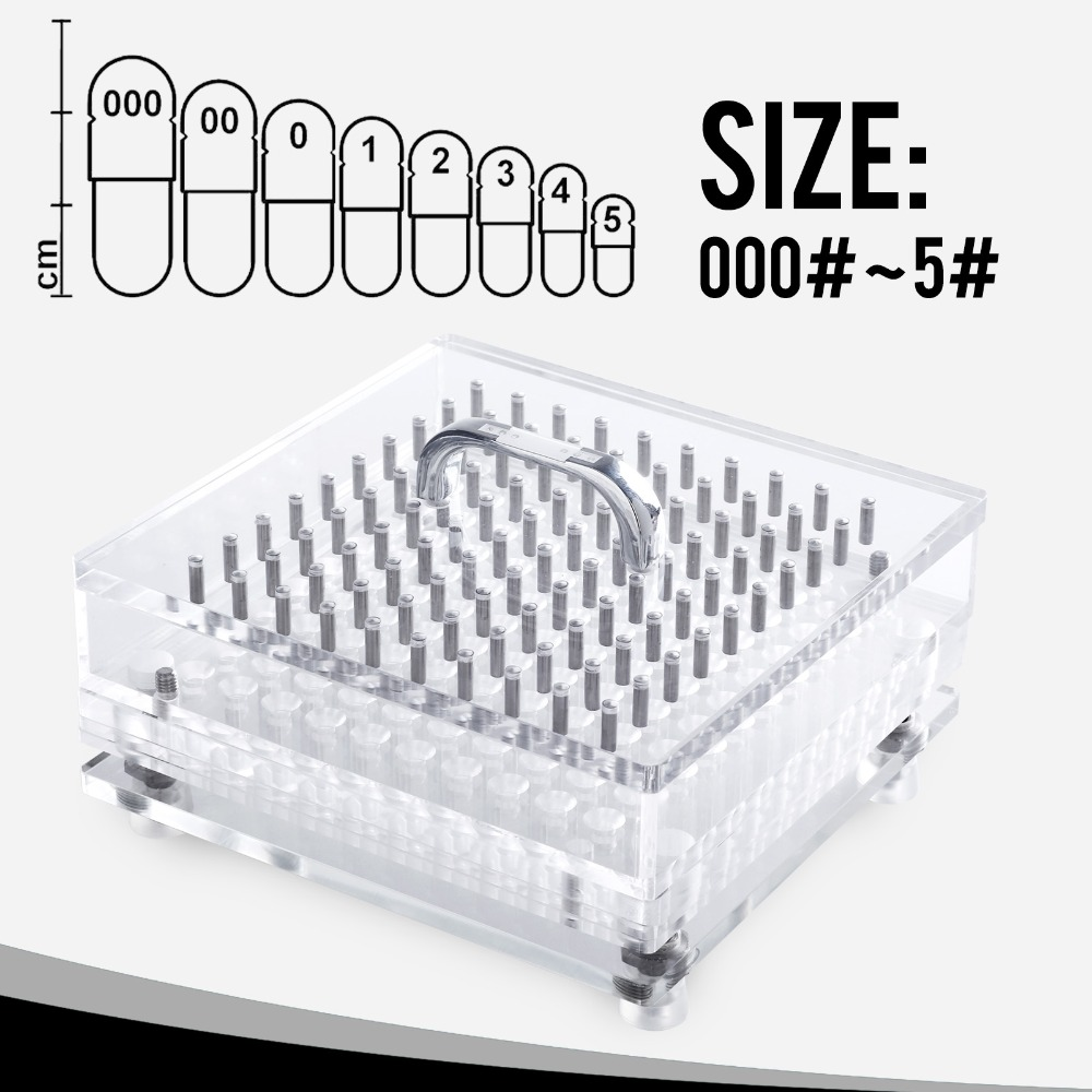 CapsulCN 100 Holes High Precision Size 0 CN 100CL Manual Capsule FillerCapsule Filling