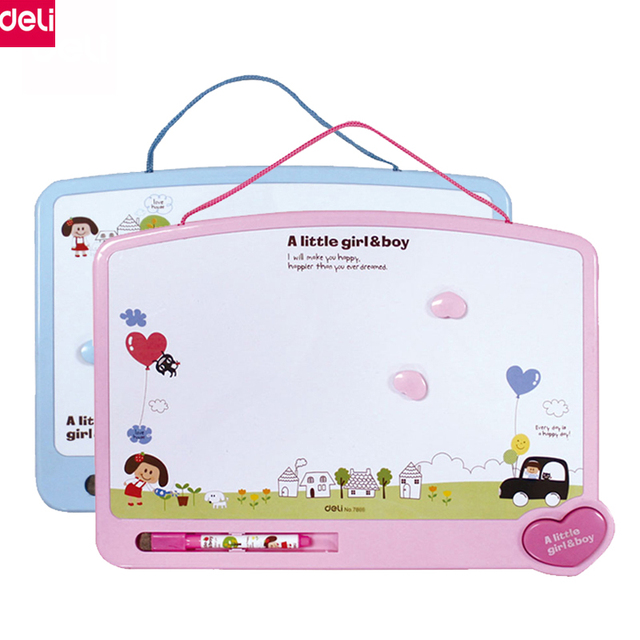 Deli Magnetic Bulletin Board Drawing Message Writing For Kids Home Decorative Office School Supplies