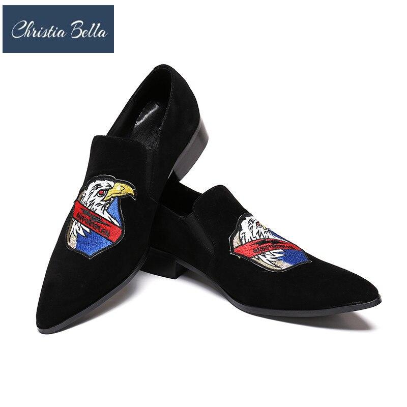 Homens Dos Designer Se Couro Masculino Azul Plus De Vestem Clássico Marca Size Deslizamento Christia Confortável Sapatos Bella Flats Preto Genuíno Xq4xIwEB