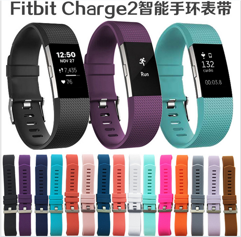 In Stock! Hot Sport Silicone Band for Fitbit Charge 2 Smart Bracelet Strap for C