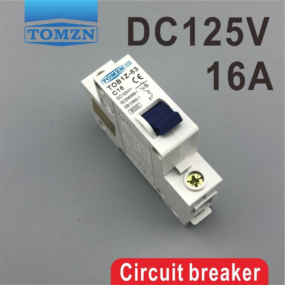 1P 16A DC 125V Circuit breaker MCB цена