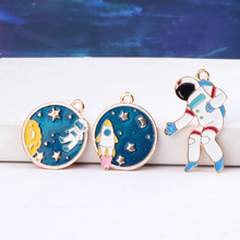 japan korea creative cute design rocket planet astronaut starry sky space earrings for women diy fashion jewelry accessories