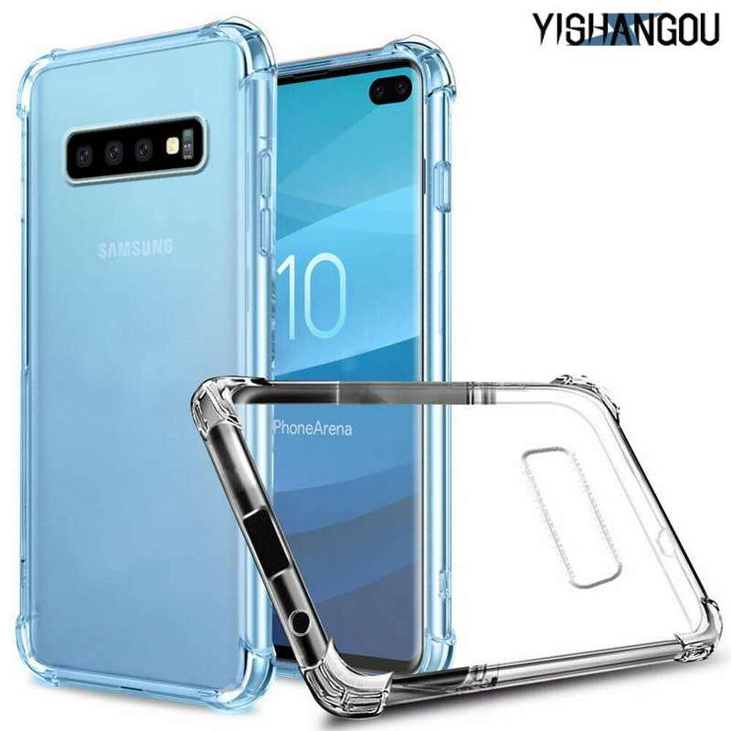 YISHANGOU Transparent Ultra-thin Case For Samsung Galaxy M20 M10 S10 S9 S8 S7 Plus 10E A9 A8 A7 A6 A5 A3 Note 9 8 J8 J6 J4 2018