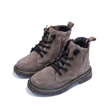 Children Students Martin Boots Fall Retro Boys Shoes High Quality Pigskin Leather Boots Girls Casual Shoes For Kids Boots KS229