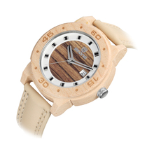 SKONE Brand Quartz Watch Men Comfortable Wooden Watches for Men PU Leather Band Sport Wristwatches Relogio masculino