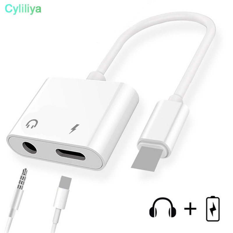 Splitter For lightning to 3 5mm Headphone Jack Audio Converter Earphone Aux Cable Adapter For iPhone