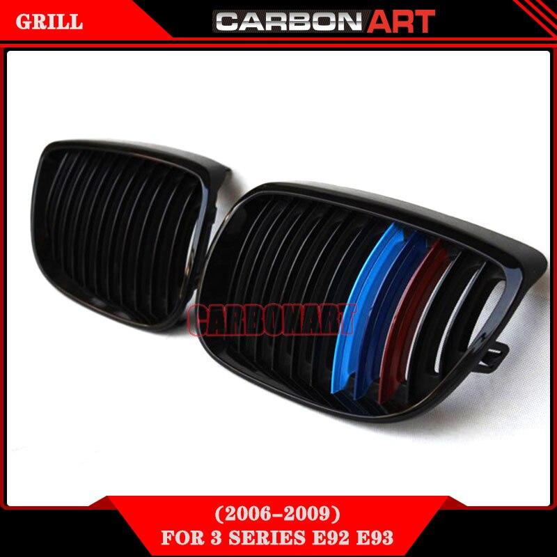 Глянцевый черный M цвет почек оригинальные авто сетки решетка для BMW 3 серии купе е92 е93 335i 318 CI спортивный модель 330i 325 спортивный 320i спортивный купе
