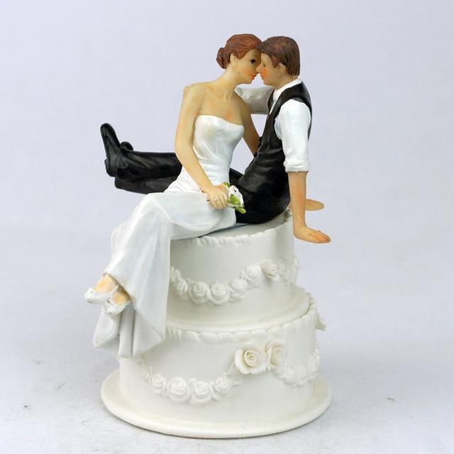 Aliexpress Com Buy Romantic Sweet Embrace Couple Wedding Cake