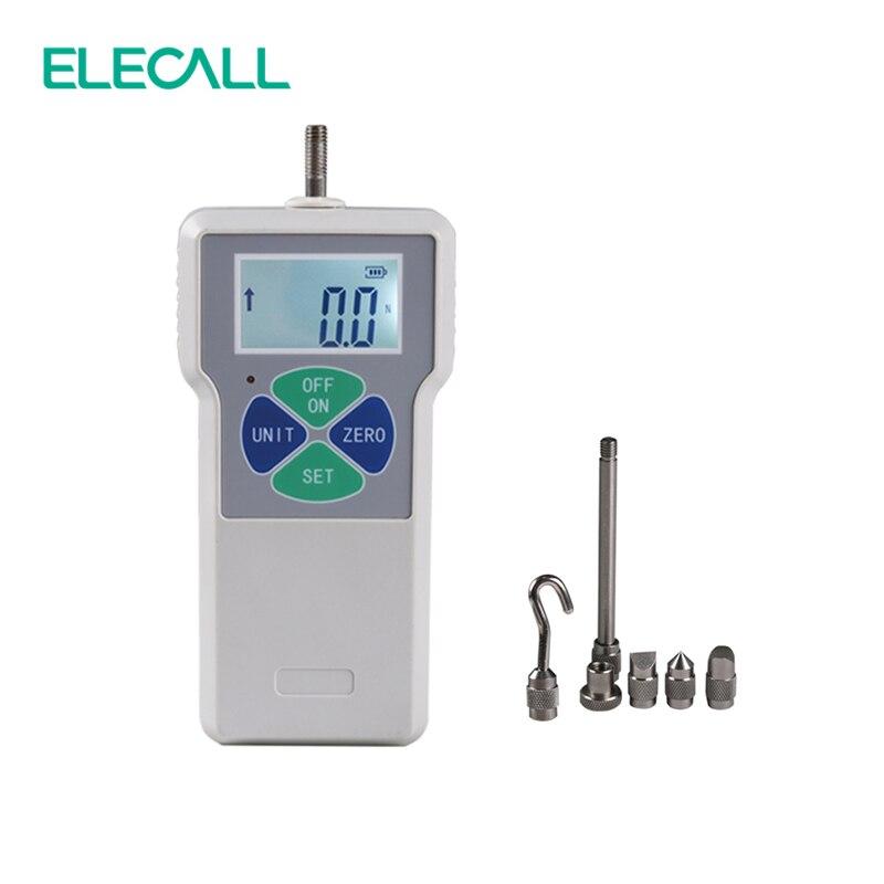 ELECALL ELK-10 Digital Dynamometer Force Measuring Instruments Thrust Tester Digital Push Pull Force Gauge Tester Meter fastnet force 10 rei paper only