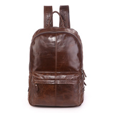 Quality Men Cowhide Genuine Leather Fashion Vintage Backpacks Large Capacity Traval Bag Coffee Men s Backpack