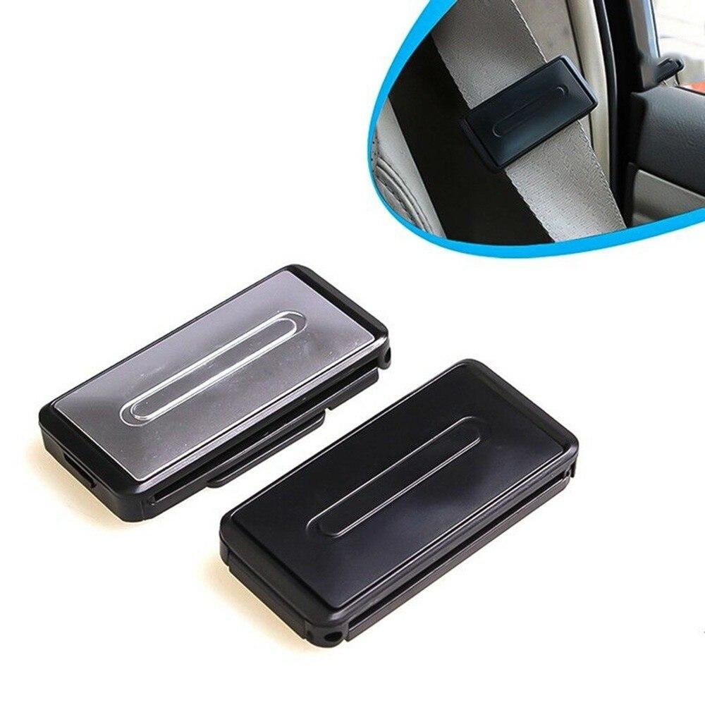 2Pcs Portable Universal Car Safe Seatbelt Buttons Clip Vehicle Adjustable Seat Belt Holder Stopper Buckle Clamp Auto Accessorie