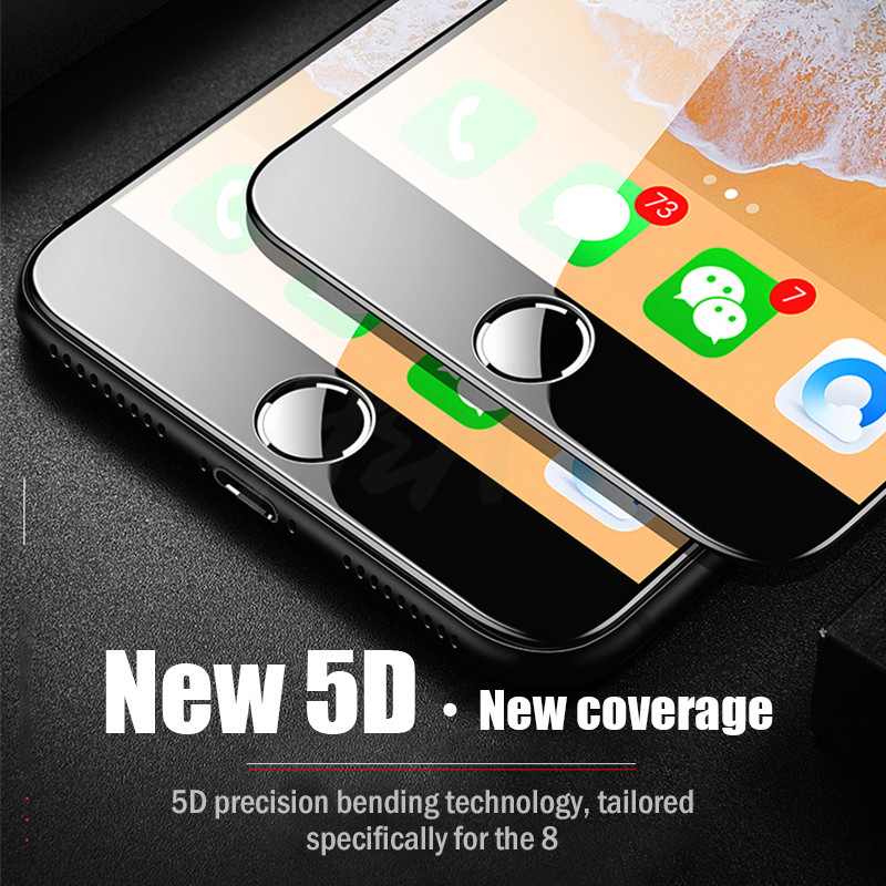 Image 5 - H&A 5D Full Cover Edge Tempered Glass For iPhone 7 8 6 Plus Screen Protector For iPhone 6 6s 7 Plus Film Protection Glass-in Phone Screen Protectors from Cellphones & Telecommunications