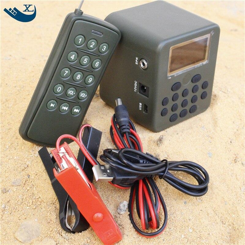 Outdoor Hunting Bird Caller Mp3 Player 50W Sound Loudspeaker Amplifier 200 Bird Sound Mp3 Bird Caller With Remote Control