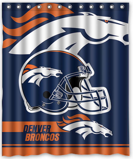 Comfortable Life Style NFL Denver Broncos Polyester 60 X 72 Inch Shower Curtain Gift Idea