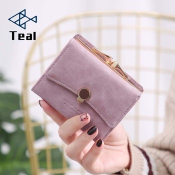 Brand Design Women wallet small three fold pu leather coin wallet fresh multi-function women purse female coin purse wallet