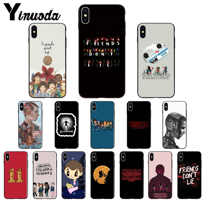 Yinuoda Stranger Things Custom Photo Soft Phone Case for iPhone 6S 6plus 7 7plus 8 8Plus X Xs MAX 5 5S XR