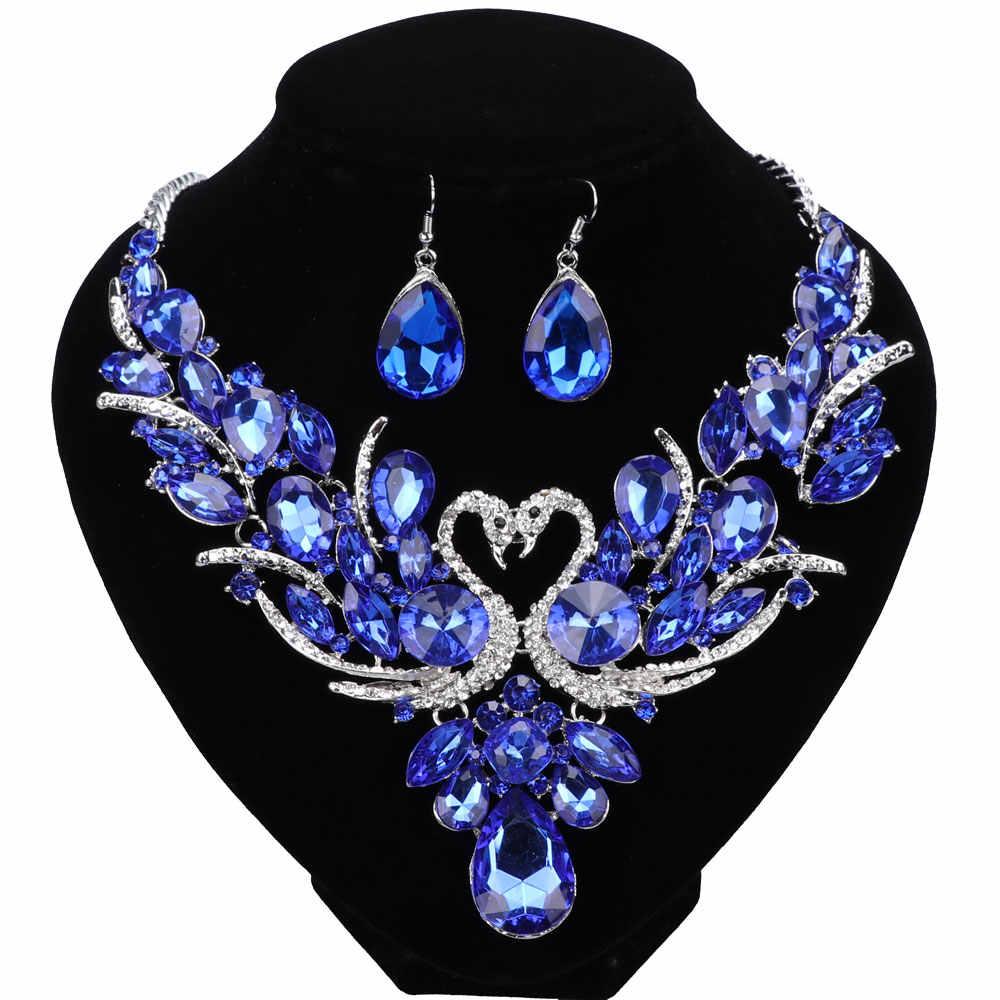 Mode Nigerian Schmuck Set Für Frauen Lila Quaste Ohrringe Halskette Set Bankett Kleid Zubehör Braut Indian Schmuck
