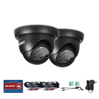 ANNKE TVI Cameras 2PCS Dome 1280TVL Outdoor Fixed Dome Cameras With IP66 Weatherproof Day Night Vision