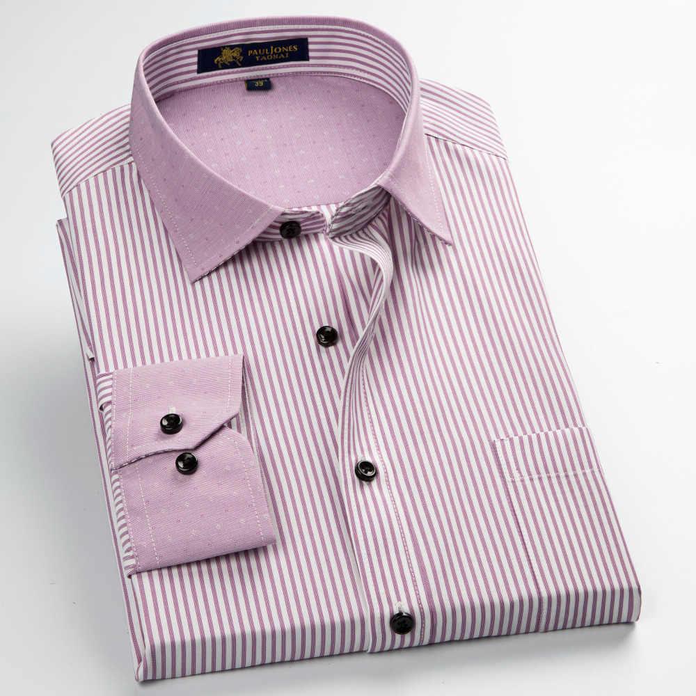 MACROSEA 男性のストライプ/チェック柄ドレスフォーマルシャツクラシックスタイルのパッチワークコントラスト色レジャーシャツ男性カジュアルシャツ