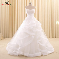 Custom Made Ball Gown Sweetheart Wedding Dresses Lace Elegant Long Formal Wedding Gown 2018 New Design