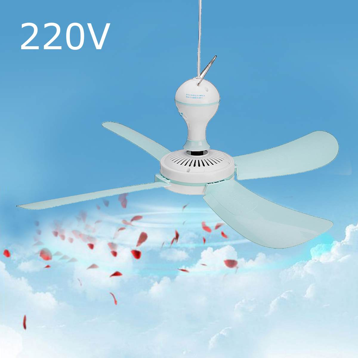 220v 16w Large Silent Ceiling Fan  Blade Ceiling Fan Switch Cooling Portable Easy Hanging Summer  Household Ceiling Fan