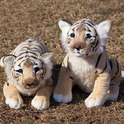 Новый симулятор тигр, лев, леопард, мягкие и плюшевые животные, милые детские куклы на день рождения, подарок, игрушки, мягкая подушка на Рождество Мягкие игрушки животные      АлиЭкспресс