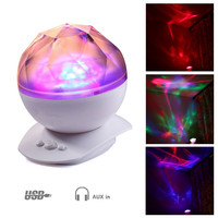 Color Changing Led Night Light Lamp & Realistic Aurora Star Borealis Projector, Perfect for Children and Adults Sleep Aid Light