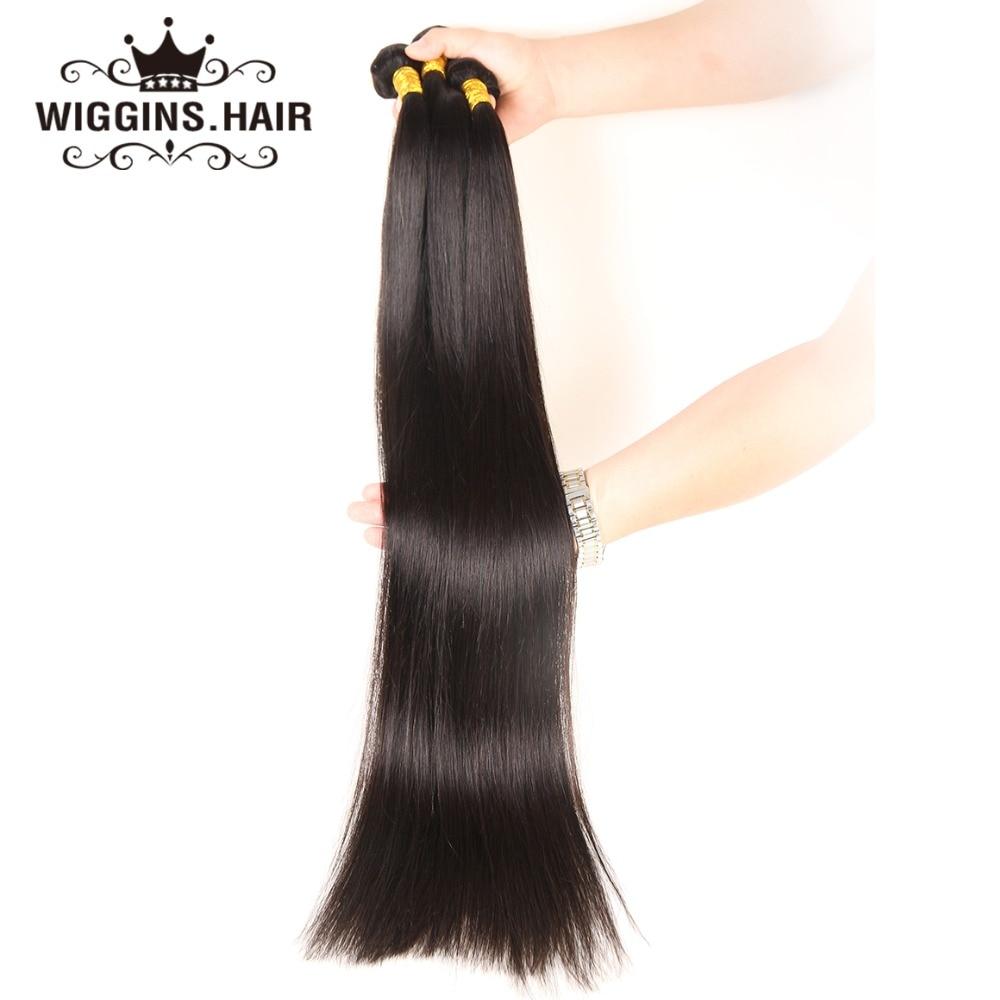 Wiggins uzun uzunluk 28 30 32 34 36 38 40 inç insan saçı demetleri brezilyalı 1 adet sadece Remy saç