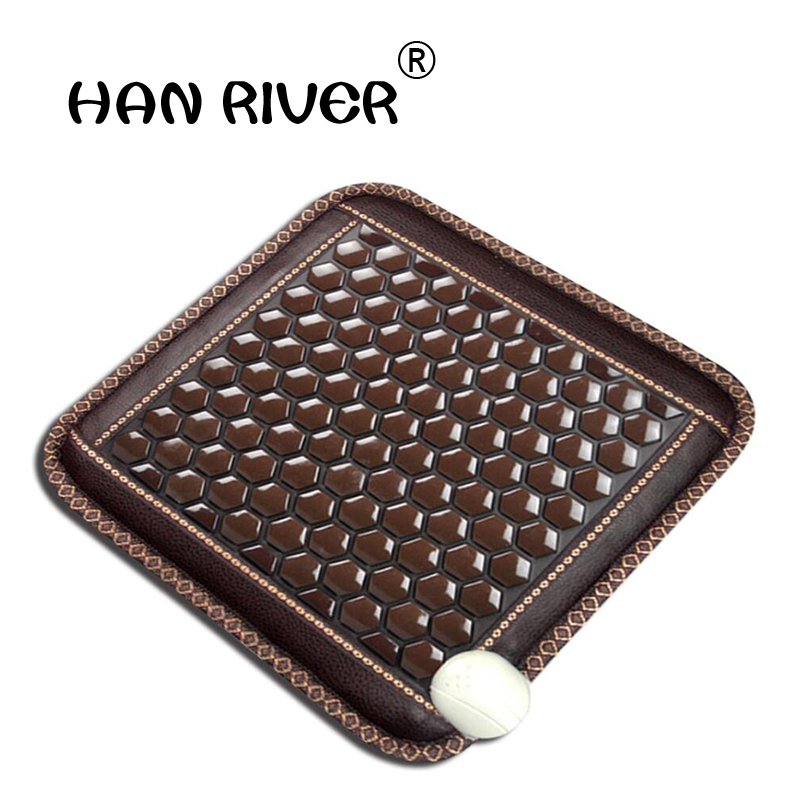 Multi function jade electric heating cushion cushion beautiful buttock physical therapy health germanium stone cushion office