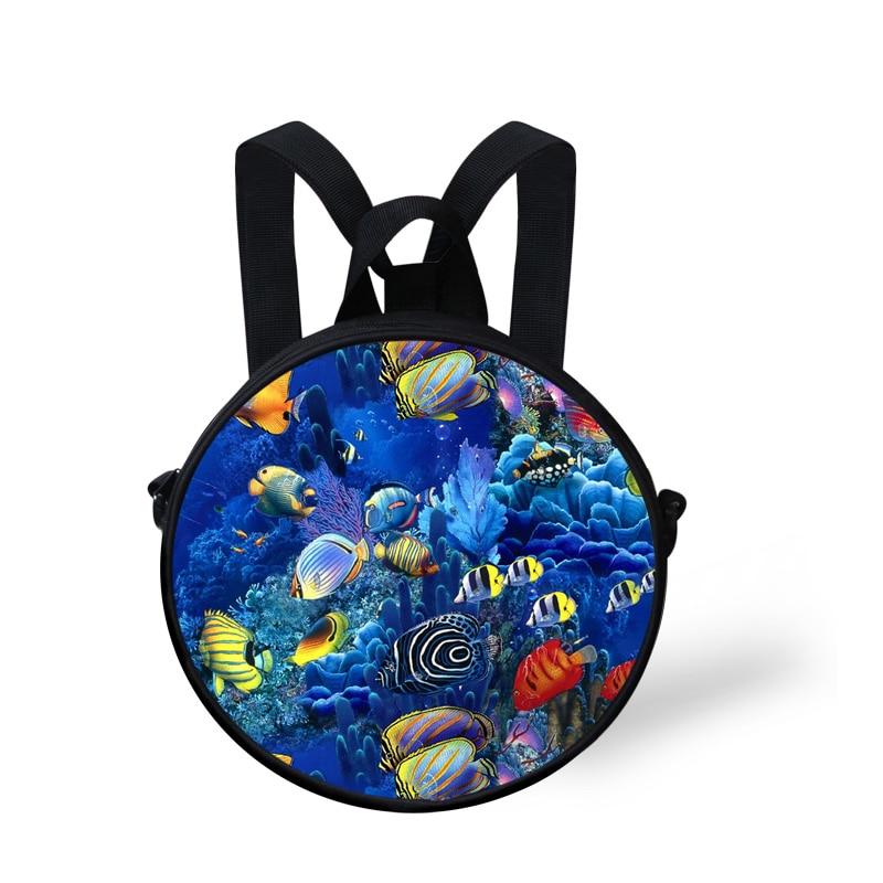 Small 3D Children Backpack for Girls Boys Fish Preschool Baby Kids Kindergarten School Backpack Travel Bagpack Mochila Infantil