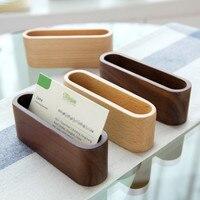 High Quality Wooden Storage Box Office Desktop Decoration Card Case Business Card Holder Display Stand Shelf