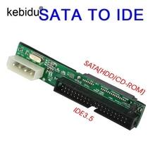 Sata IDE adaptörü dönüştürücü 2.5 Sata dişi 3.5 inç IDE erkek 40 pin port 1.5Gbs destek ATA 133 100 HDD CD DVD seri
