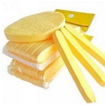 2015 HOT! (Line to Round meeting water ) Magic Pressed Seaweed face sponges for Cleaning & Yellow