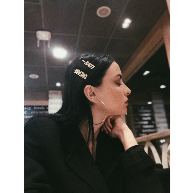 87535aba94 US $0.97 46% OFF|Aliexpress.com : Buy DANZE 1PC Gold Fashion Luxury Bling  Letters LOVE HOPE DREAM Hairpins Headwear for Women Girls Hair Clips Pins  ...