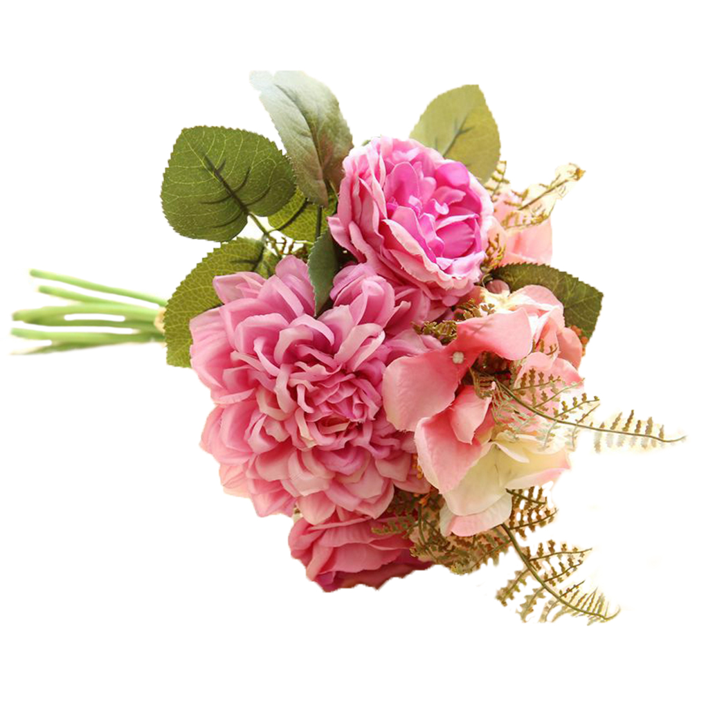 Artificial Hydrangea Rose Dahlia Flower Bouquet for Home Party ...
