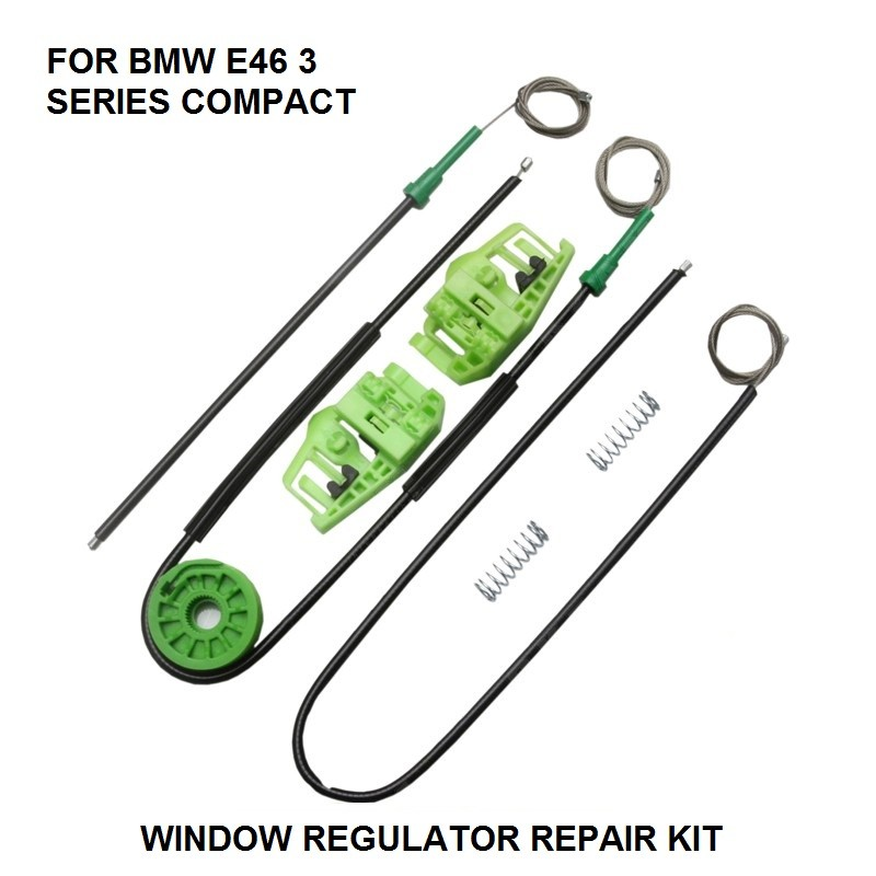 CAR WINDOW KIT FOR BMW E46 COMPACT ELECTRIC WINDOW REGULATOR FRONT-LEFT 06/2001 To 12/2004
