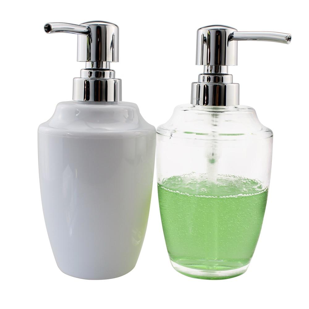 2pcs/lot Acrylic Liquid Soap Dispenser Pump Kitchen or